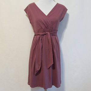 Ann Taylor LOFT Fit and Flare Mauve Dress | S